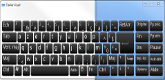 image Options d'ergonomie de Windows 7. Outils clavier visuel