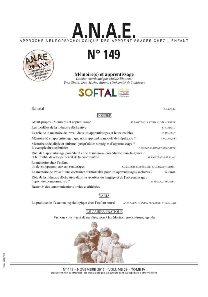 image Mémoire(s) et Apprentissage
