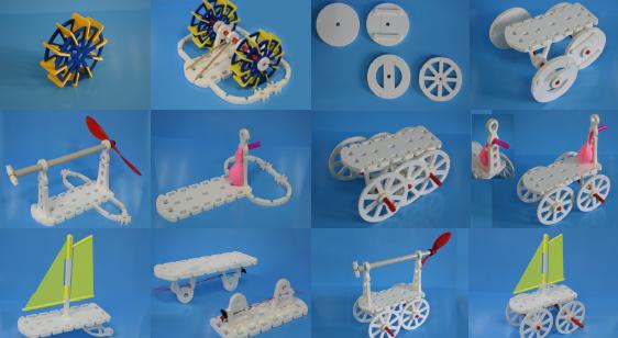 image « Le garage » : maquette pédagogique de constructions de véhicules