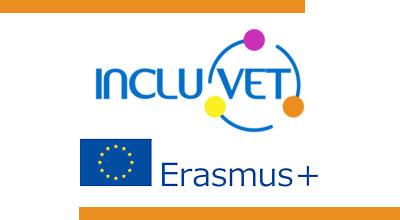 Logos projet INCLUVET et Erasmus +