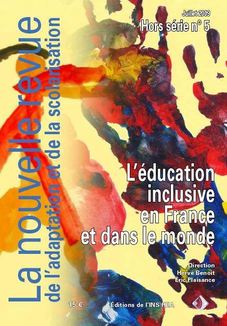 Couverture du Hors série n°5 de La nouvelle revue de l'adaptation et de la scolarisation, illustrée par des mains d'enfants à la peinture