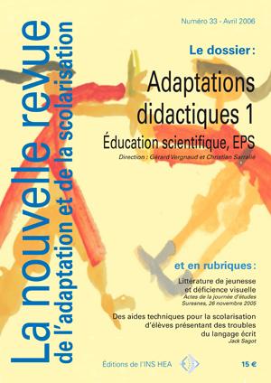Couverture de La nouvelle revue de l'adaptation et de la scolarisation, n°33