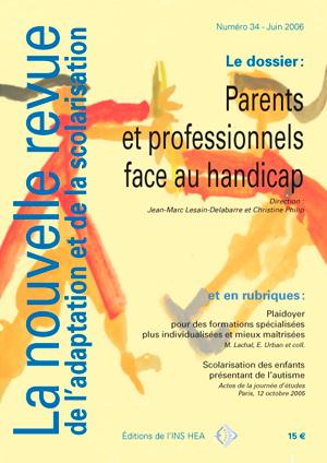 Couverture de La nouvelle revue de l'adaptation et de la scolarisation, n°34