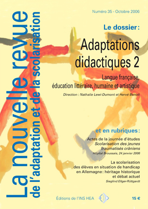 Couverture de La nouvelle revue de l'adaptation et de la scolarisation, n°35