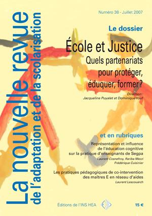 Couverture de La nouvelle revue de l'adaptation et de la scolarisation, n°38