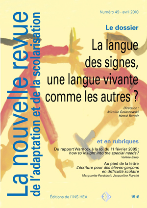 Couverture de La nouvelle revue de l'adaptation et de la scolarisation, n°49