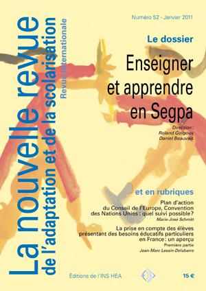 Couverture de La nouvelle revue de l'adaptation et de la scolarisation, n°52