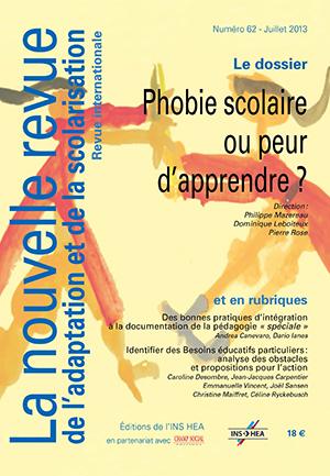 """Couverture de La nouvelle revue n° 62 : """"Phobie scolaire ou peur d'apprendre ?"""""""