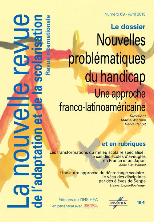 Couverture de La nouvelle revue de l'adaptation et de la scolarisation, n°69
