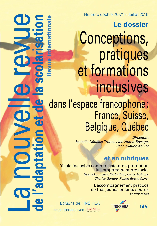 Couverture de La nouvelle revue de l'adaptation et de la scolarisation, n°70-71