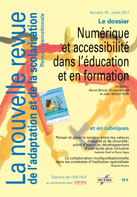 Couverture de La nouvelle revue de l'adaptation et de la scolarisation numéro 78