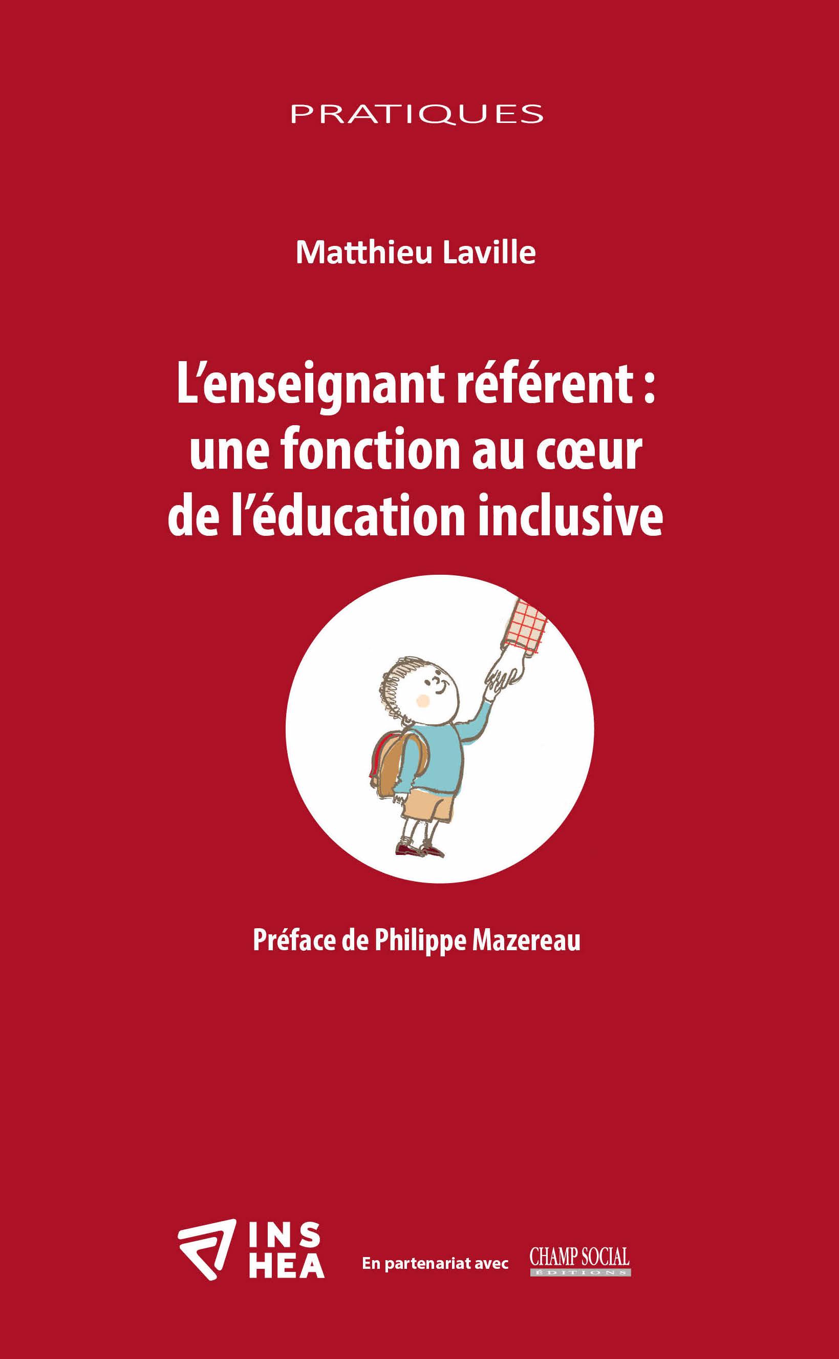 """Couverture de l'ouvrage  : """"L'enseignant référent: une fonction au cœur de l'éducation inclusive"""""""