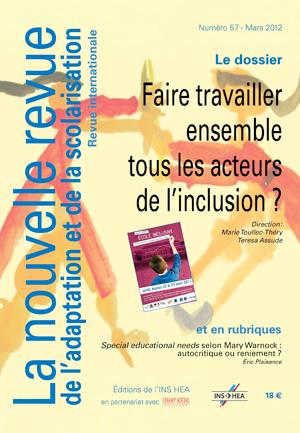 Couverture de La nouvelle revue de l'adaptation et de la scolarisation, n°57