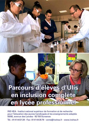 """Jaquette du film """"Parcours d'élèves d'ULIS en inclusion complète en lycée professionnel"""""""