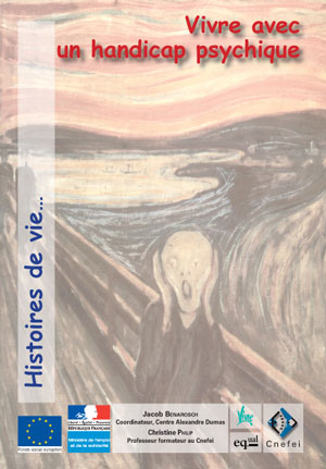 """Couverture de l'ouvrage """"Vivre avec un handicap psychique"""", illustrée par le célèbre tableau """"Le Cri"""" d'Edvrard Munch (1893)"""