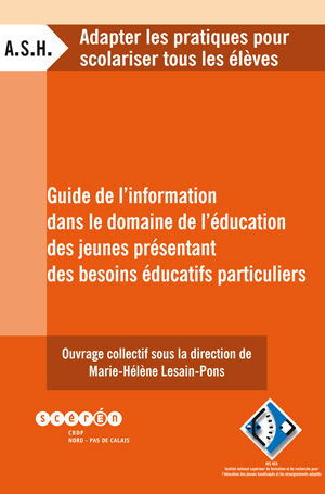 """Couverture de l'ouvrage """"Guide de l'information dans le domaine de l'éducation des jeunes présentant des besoins éducatifs particuliers"""""""