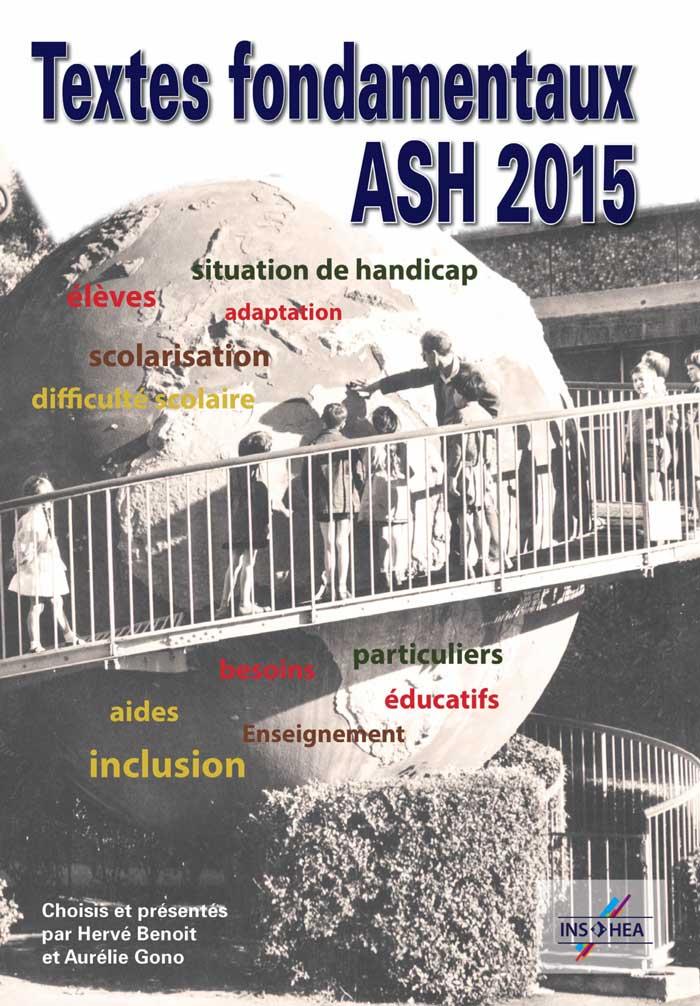 Jaquette du cédérom «Textes fondamentaux pour l'ASH», édition 2015