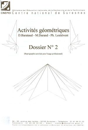"""Couverture de l'ouvrage """"Activités géométriques n° 2"""", illustrée de formes géométriques"""