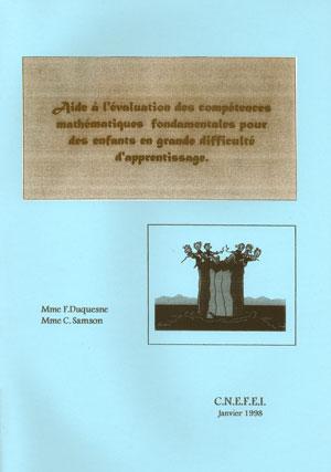 """Couverture de l'ouvrage """"Aide à l'évaluation des compétences mathématiques fondamentales pour des enfants en grandes difficultés"""""""
