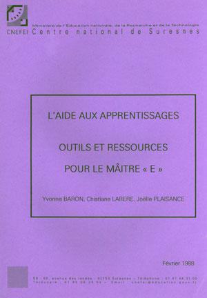 """Couverture de l'ouvrage """"Aide aux apprentissages. Outils et ressources pour le maître E"""""""