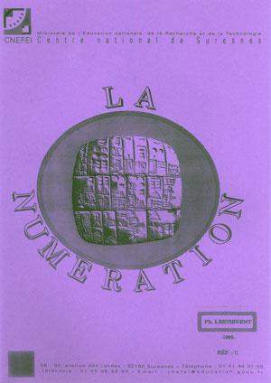 """Couverture de l'ouvrage """"La numération"""""""