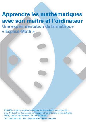 """Jaquette du film """"Apprendre les mathématiques avec son maître et l'ordinateur. Une expérimentation de la méthode « Espace-Math »"""", illustrée par le logo de l'INS HEA."""