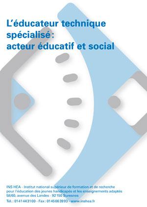 """Jaquette du film """"L'Éducateur technique spécialisé (ETS) : acteur éducatif et social"""""""