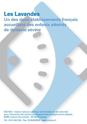 """Jaquette du film """"Les Lavandes. Un des deux établissements français accueillant des enfants atteints de dyslexie sévère"""". Sans visuel."""