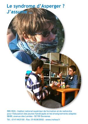 """Jaquette du film """"Le syndrome d'Asperger ? J'assume ..."""" illustrée par deux photos de Stéfany, jeune femme avec syndrome d'Asperger"""