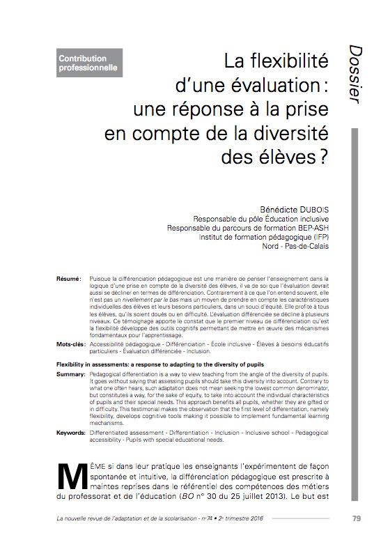 Première page de l'article de Bénédicte Dubois